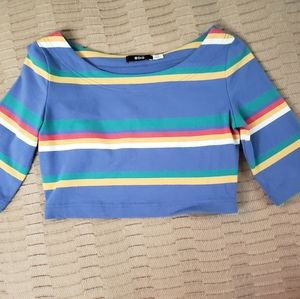BDG cropped top with cropped sleeves sz S